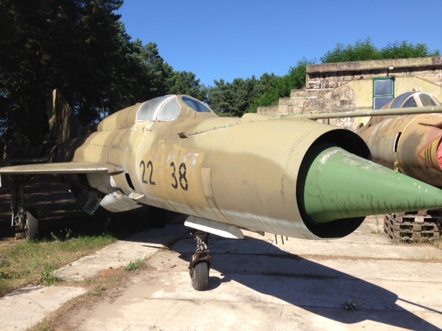 East German MIG at a cold war bunker