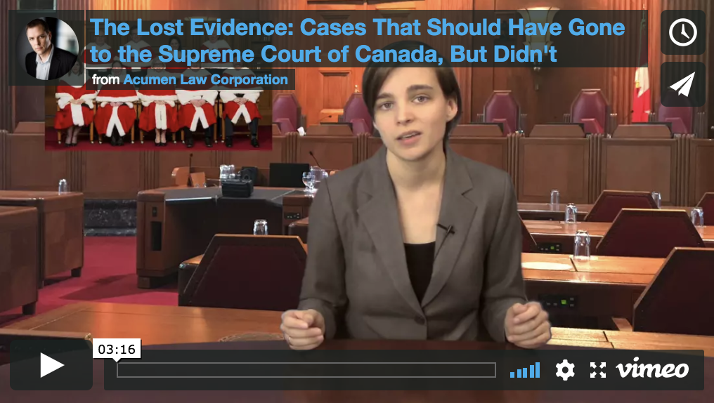 The Lost Evidence: Cases That Should Have Gone to the Supreme Court of Canada