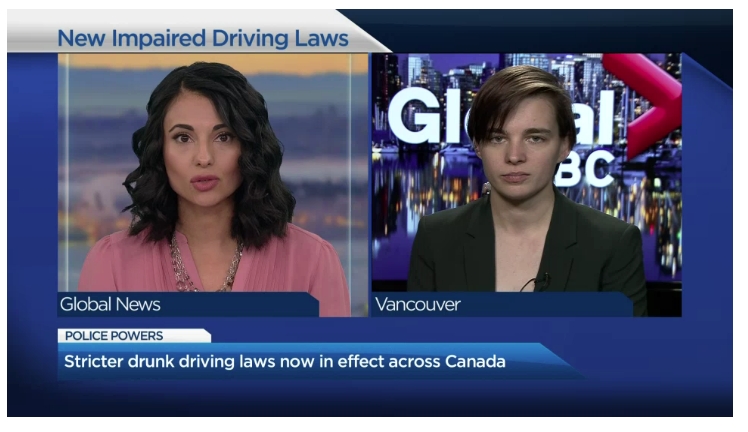 Global News: Kyla Lee Explains The New Impaired Driving Laws